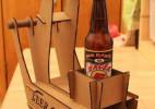 喝啤酒时想到的绝佳主意 用瓦楞纸箱制作可爱的宠物推车做法