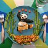 大熊猫主题美食 太可爱了都不忍心吃