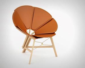 "Raw Edges设计的""六角手风琴""折叠椅"