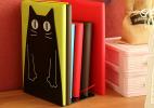 创意卡通猫书挡书架