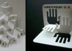 折叠创意3D名片设计