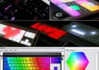 彩色变换发光的LED创意键盘