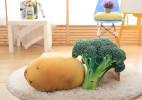 """创意无极限,""""以假乱真""""的仿真蔬菜抱枕"""