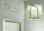 创意的双面玻璃窗