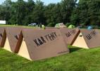 环保坚固的纸板创意帐篷
