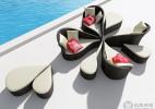 随意拼凑的花朵形创意组合家具