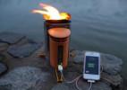 最强大的烧烤炉!可为手机充电