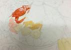 用水彩画一顿丰盛的火锅大餐