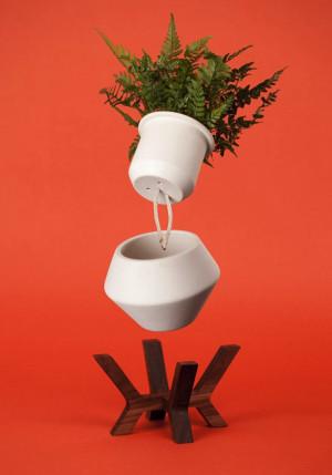 创意花盆能够自动吸水,免去每天浇水的麻烦