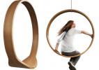 波兰圆形实木创意吊椅(Swing Chair)