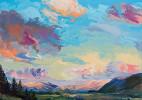 七彩色的天空绘画美图佳作