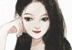 五官超美的美女人物绘画,适合作头像