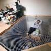 折叠沙发吊床一床多用,不仅能睡觉还能当蹦蹦床