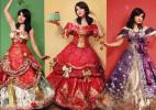 用包装纸制作的公主裙―旧物改造