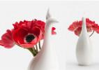 韩国孔雀创意花瓶(Peako vase)