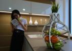 水果与绿植共生的创意果篮