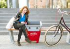 环保太阳能充电创意椅子(Soofa Bench)