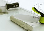 Jongwoo Choi设计:手柄可翻转的菜刀