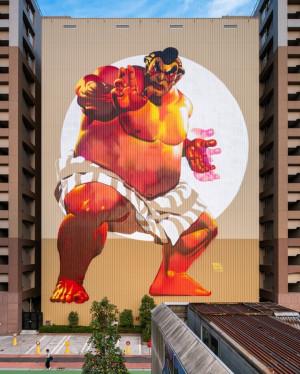 东京Tennozu Isle街头艺术与壁画作品