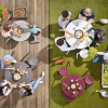 Dirk Wynants设计的方便进出野餐桌Virus