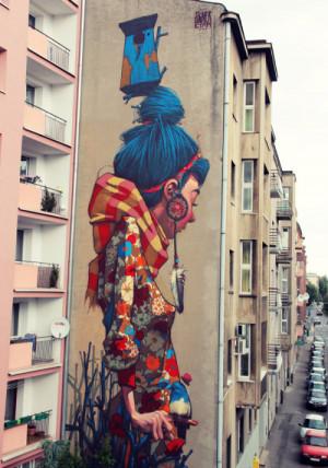 充满趣味的街头涂鸦作品