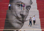 23个世界最美楼梯上的街头艺术