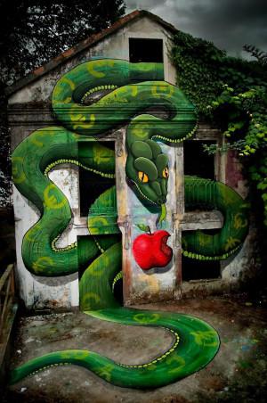 街头创意幻想涂鸦作品