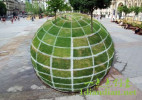 3D创意的草坪绿地