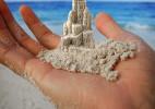沙滩上的沙雕