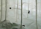 """札幌艺术博物馆,以纸造林的装置艺术 """"WALD AUS WALD"""""""