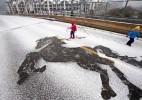 脚踩的街头艺术