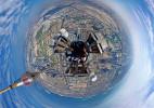 迪拜塔的360度全景