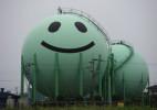 日本天然气公司的卡通储气塔