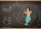 婴儿的黑板冒险