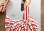 最美的扑克牌的裙子