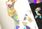 五光十色的碟片裙子