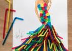 吸管的最高艺术----吸管裙子