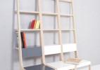书架椅子二合一的创意家具