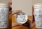 日本牛人用3个纸杯创作出哆啦A梦