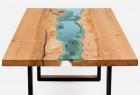 创意的河流分割桌子