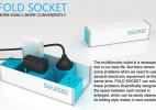 可折叠便捷创意插板(Fold Socket)