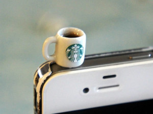 星巴克咖啡杯造型手机防尘塞