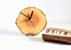 实木年轮创意挂钟