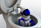 帮你清洁马桶的机器人