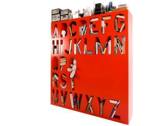 创意英文字母书架