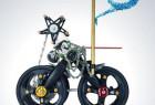 自行车零件拼成的艺术品