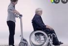 轮椅装上这个神器就能爬楼梯:爬楼神器