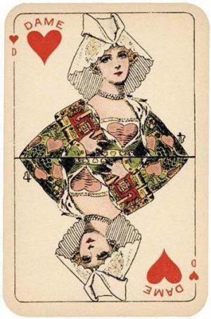创意扑克牌艺术画