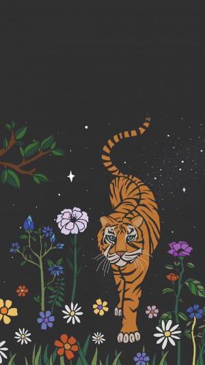 唯美的夜空水彩画