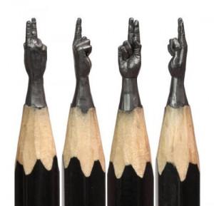 创意铅笔尖雕塑